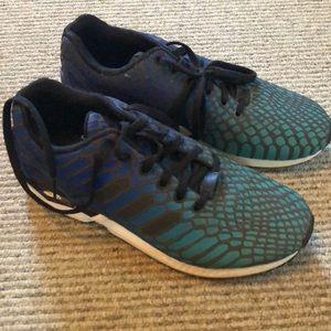 Adidas reflective tennis shoes. Men's size 9.5.